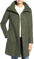 Kristen Blake Women's Funnel Neck Wool Blend Coat