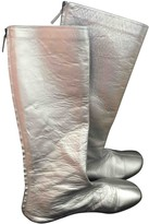 Molly Goddard Silver Leather Boots