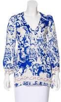 CH Carolina Herrera Long Sleeve Printed Tunic