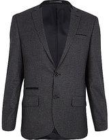 River Island MensDark grey houndstooth slim suit jacket