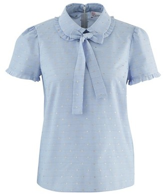 RED Valentino Short-sleeved shirt with ribbon tie