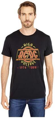 The Original Retro Brand ACDC High Voltage Vintage Cotton Tee (Black) Men's Clothing