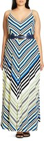 City Chic Super Stripe Maxi Dress