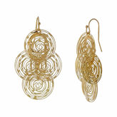 Natasha Accessories Natasha Modern Gold-Tone Drop Earrings