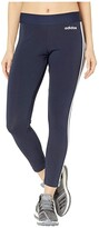 adidas Essential 3-Stripes Long Tights (Legend Ink/White) Women's Workout