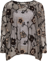 Isolde Roth Plus Size Siglinde linen wool pattern sweater
