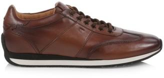 Santoni Leather Jogger Sneakers