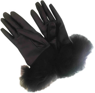 UGG Black Leather Gloves
