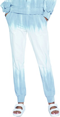 WASH LAB Paint Drip Graphic Joggers