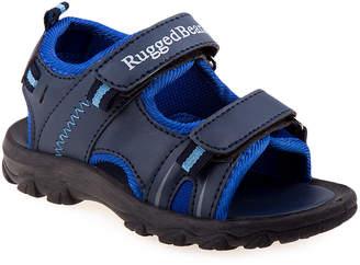 Rugged Bear Boys' Sandals Navy/Blue - Navy & Blue Double-Strap Sandal - Boys