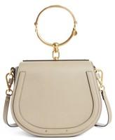 Chloé Medium Nile Leather Bracelet Saddle Bag - Grey