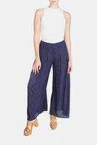En Creme Metallic Pinstripe Pants