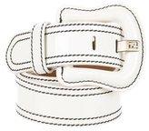 Fendi Creme Patent Leather Belt