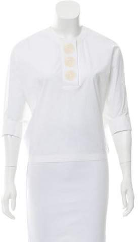 Derek Lam Embroidered Short Sleeve Top w/ Tags