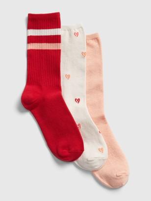 Gap Heart Crew Socks (3-Pack)