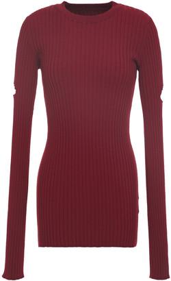 MM6 MAISON MARGIELA Cutout Ribbed-knit Sweater