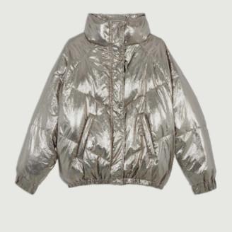 BA&SH Golden Polyester Darcy Inner Fleece Short Jacket - 1 | polyester | golden - Golden