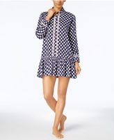 Kate Spade Printed Sateen Peplum Sleepshirt