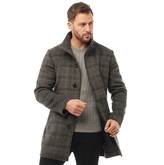French Connection Mens SB Funnel Check Jacket Grey Check