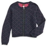 Tea Collection Girl's Alyth Zip Cardigan
