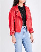 Maje Belina oversized leather jacket
