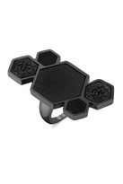 House Of Harlow Black Rhodium Cluster Ring