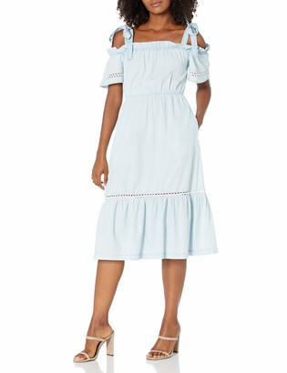 BCBGeneration Women's Off-The-Shoulder Tie Strap Day Dress