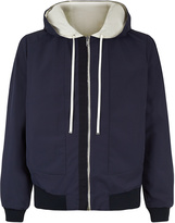 LEISURE ESCAPE Reversible hooded jacket