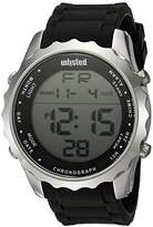 UNLISTED WATCHES Men's 'Sport' Quartz Metal and Silicone Casual Watch