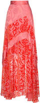 Peter Pilotto Silk maxi skirt with floral pattern