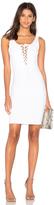 Donna Mizani Lace Up Mini Dress