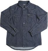 Diesel Cotton Pin-Dot Denim Western Shirt