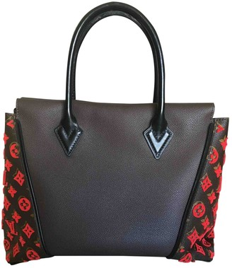 Louis Vuitton Tote W Brown Leather Handbags