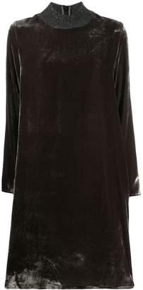 Fabiana Filippi long-sleeve shift mini dress