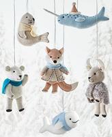 Martha Stewart Living Arctic Animal Felt Ornaments - Set of 6