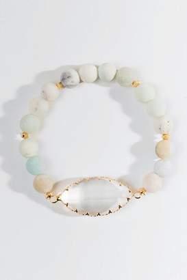 francesca's Jazmin Semi Precious Stone Bracelet - Crystal