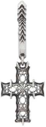 Emanuele Bicocchi Silver Single Medium Cross Earring