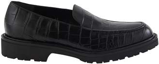 Dries Van Noten Crocodile print calf skin loafers