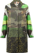 Herno scale print panel coat - women - Cotton - 40