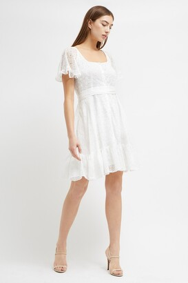 French Connection Circeela Mix Broderie Dress
