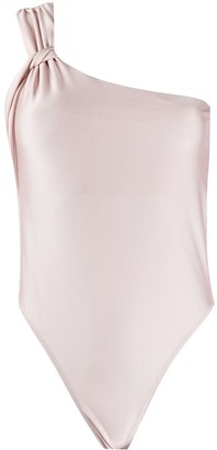 Patrizia Pepe One-Shoulder Sleeveless Bodysuit