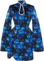 Richard Quinn Floral-Print Teardrop Satin Dress