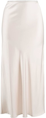 Andamane Bella satin midi skirt