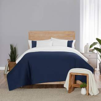 Vue Kinsley Solid Chambray Colorblock Comforter Set