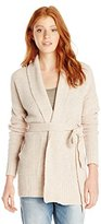 Paper Crane Papercrane Junior's Heavy Knit Cardigan with Belt and Double Collar