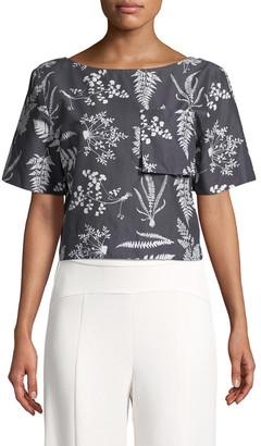 Whit Floral Crop Top