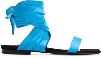 The Attico Ankle Tie Sandals