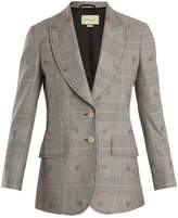 Gucci Prince of Wales-checked wool-blend blazer