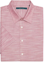 Perry Ellis Short Sleeve Solid Slub Texture Button-Down Shirt