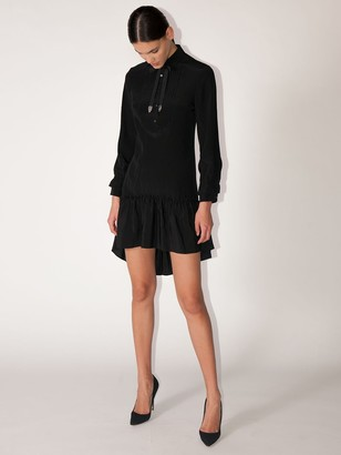 Coach Spiral Viscose & Silk Shirt Dress